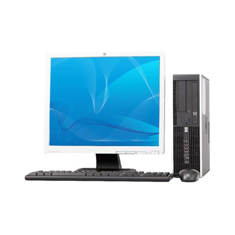 "Off Lease REFURBISHED HP 8000 Elite C2D 3.0GHz 4GB 250GB DVD Win 7 Home Computer + 17"" LCD"